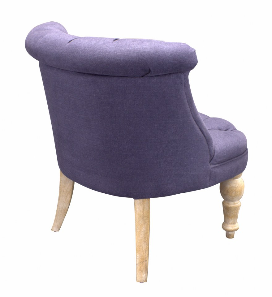Fauteuil Club Old Oak Blue 076 Fabric