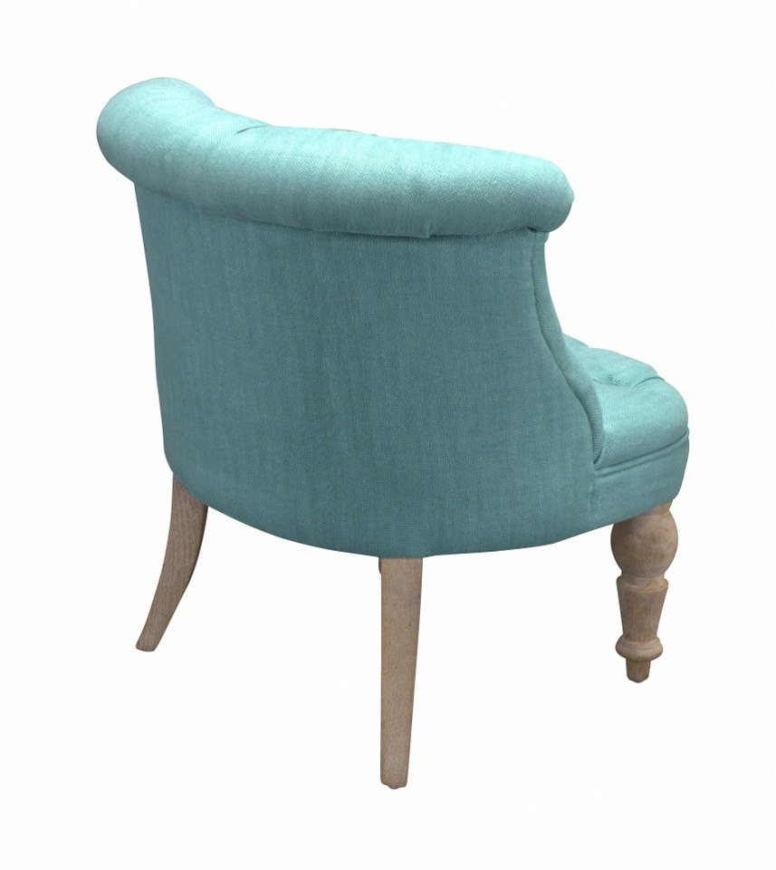 Fauteuil club old oak turquoise for Fauteuil club