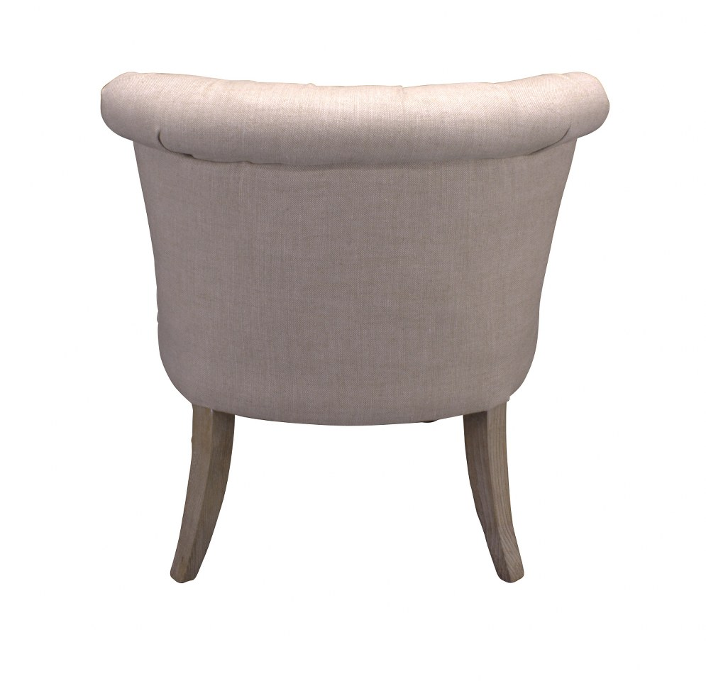 Fauteuil club weathered beech creme 015 for Fauteuil club