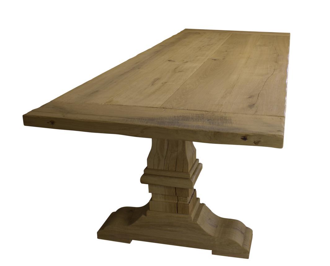 Oak table column 200x100cm for Table column