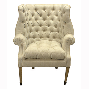 Wingchair Philip Old Oak Beige Fabric