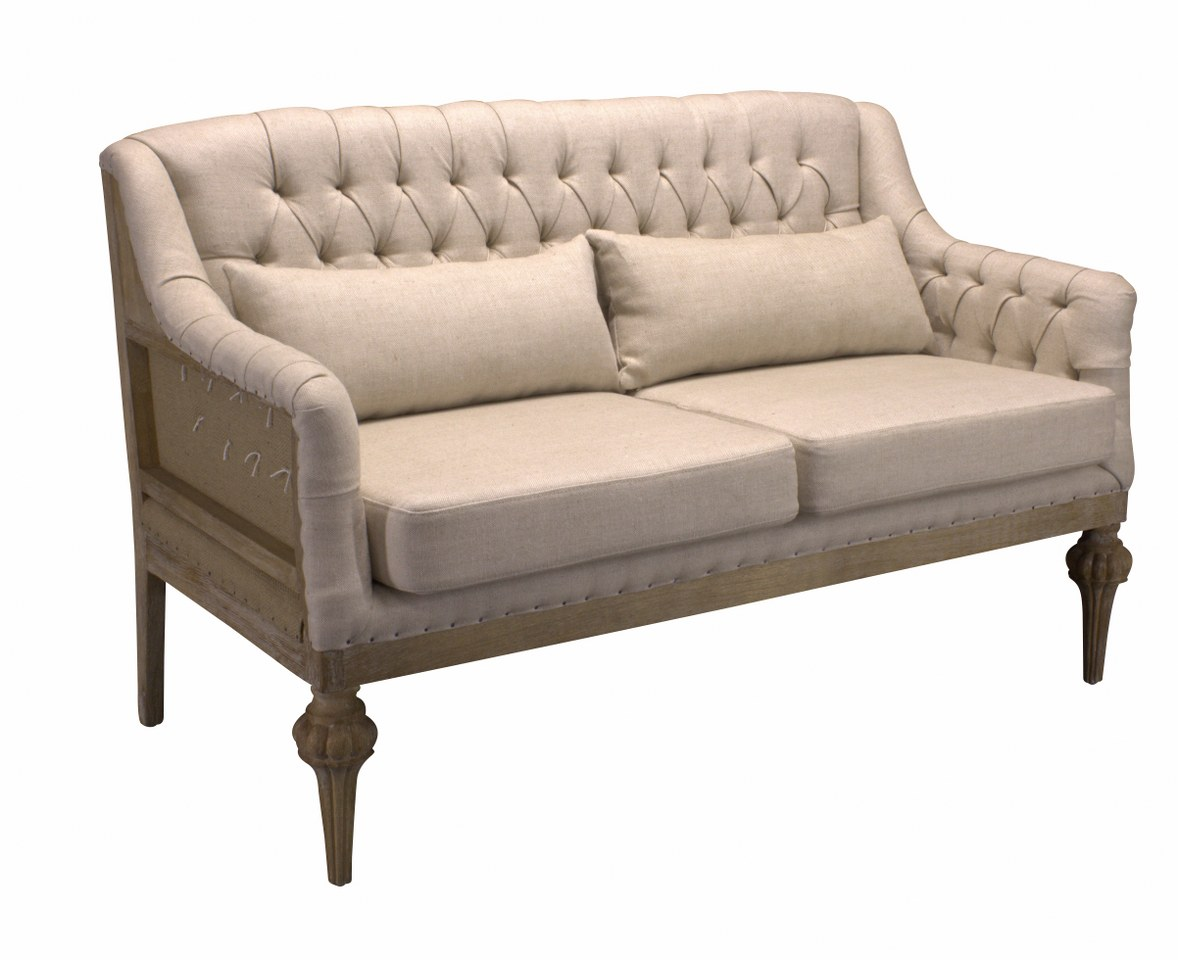 Sofa Didier Beige 015 Fabric And Canvas Back