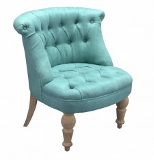 Fauteuil Club old oak turquoise