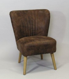 Club chair 50s brown 010 leatherlook