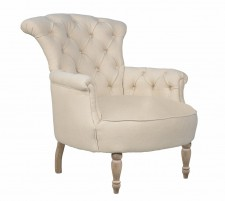 Easychair Arthur beige old grey legs