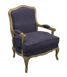 Fauteuil Lodewijk Old Oak Blue 76 linnen Fabric