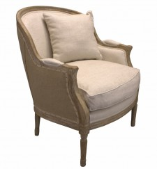 Fauteuil Charleston old oak creme 015/jute black
