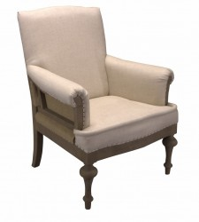 Fauteuil Winston Creme 015/ canvas back