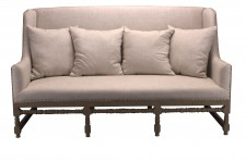 Sofa Fredric weathered Birch / Beige - Jute