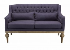 Sofa Didier blue bric and canvas back