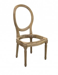 Diningchair Louis XVI round back frame only - Choose your fabric
