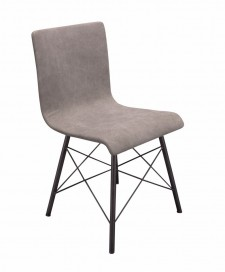 Chair Seattle black metal / grey canvas, sold as set of 4