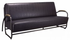 Sofa Miami Black metal black PU