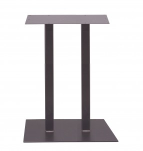 Double square table base