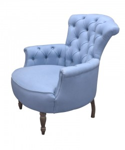 Easychair Arthur light Blue old grey legs