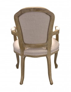 Armchair Louis II Old Oak Creme 015