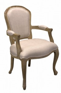 Armchair Louis II natural oak - Choose your fabric