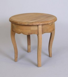 Round Side table 48x45cm bleech oak