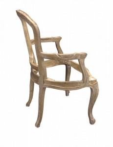 Armchair Louis II Old oak Frame only -Choose your fabric