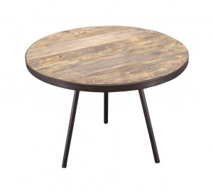 Side table Boston black metal unfinished wooden top